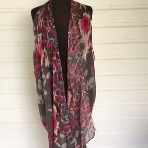 Kimono Style Scarf Cover Up Layering Piece